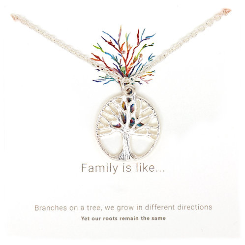 Silver tree of life necklace PNG10