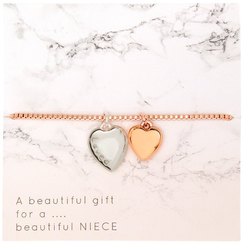Two Tone Rose gold bracelet for... PNB04
