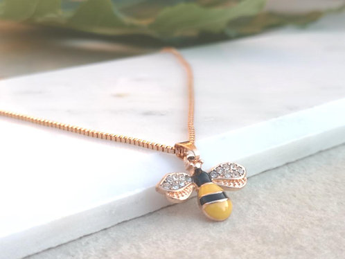 Rose Gold Bee Necklace N053R