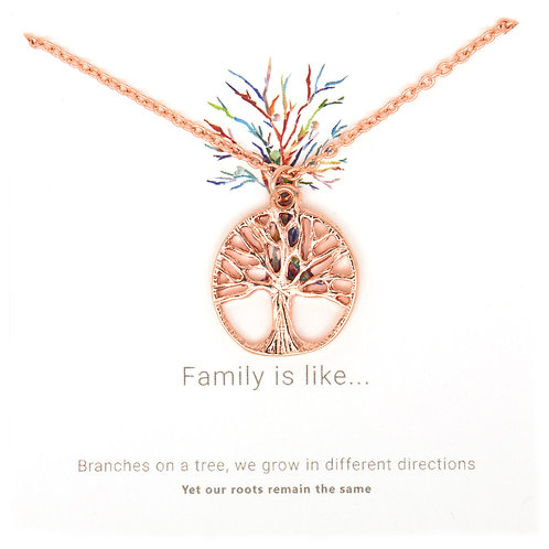 Rose gold Tree of Life necklace PNG09