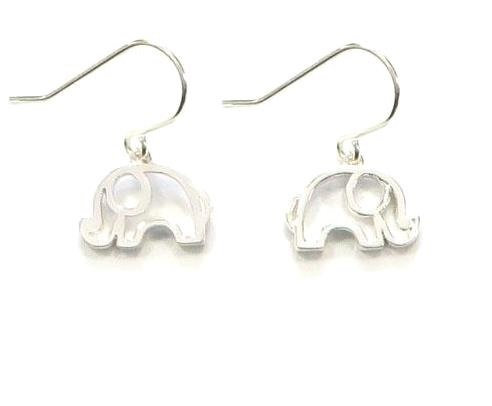 Silver elephant earrings EL05 1.6cm x1.1cm