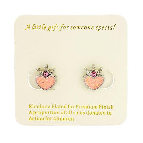 Princess clip on earrings