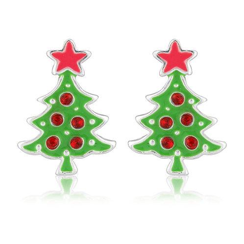 Christmas tree stud earrings XM02