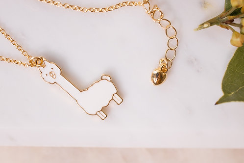Rose Gold Llama necklace