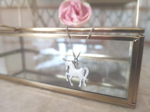 Beautiful unicorn necklace.