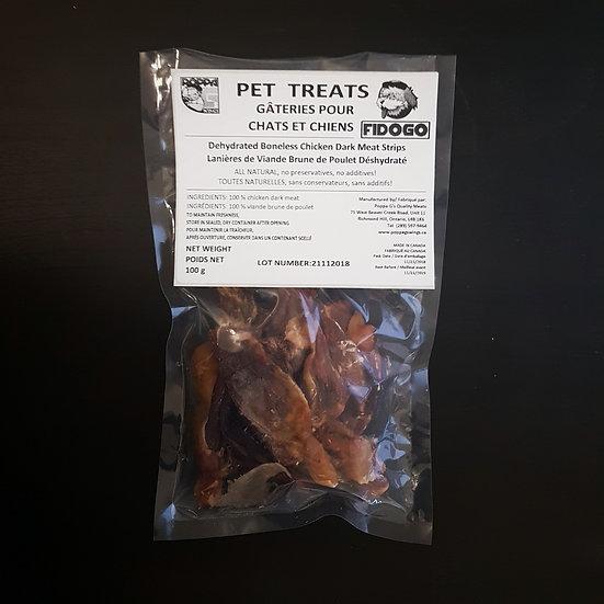Fidogo Pet Treats -Dehydrated Boneless Chicken Strips
