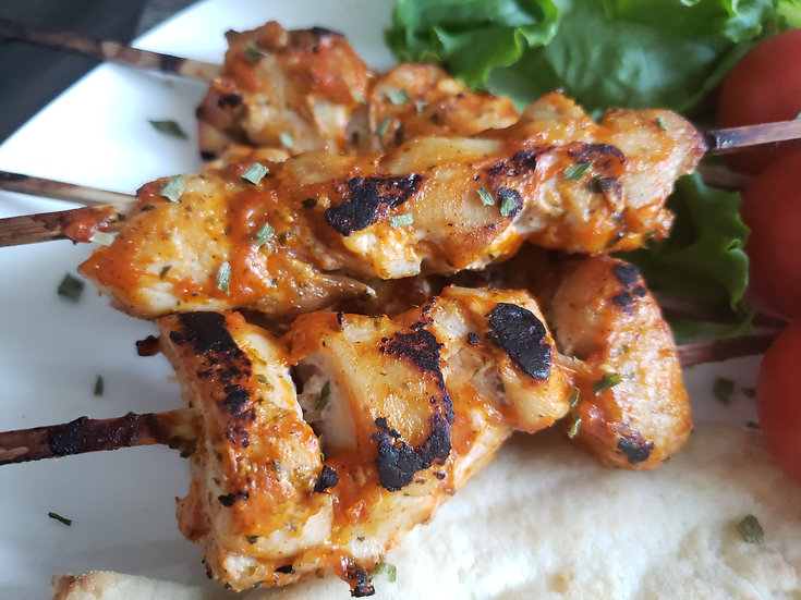 Tandoori Chicken Souvlaki - Large Skewers (Halal) - Food Service