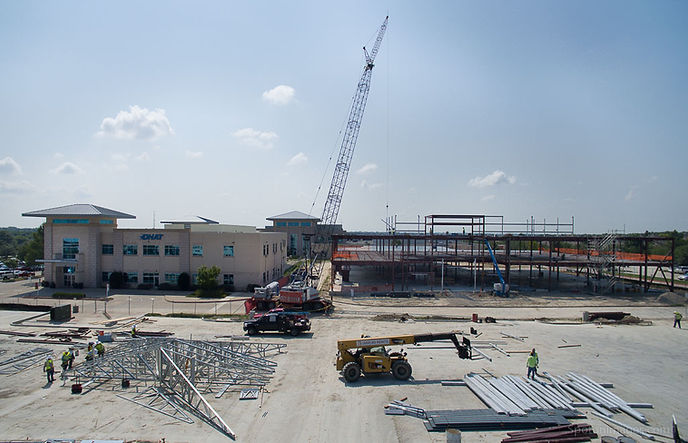 Drone photo of the under construction of the new addition of the Texas Health Hospital in Rockwall, Texas