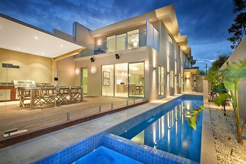 Contemporary Home with Pools