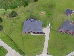 Drone overhead photo of a house