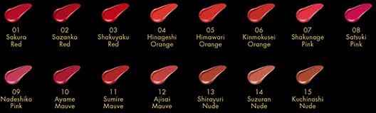 Th Lipstick colours