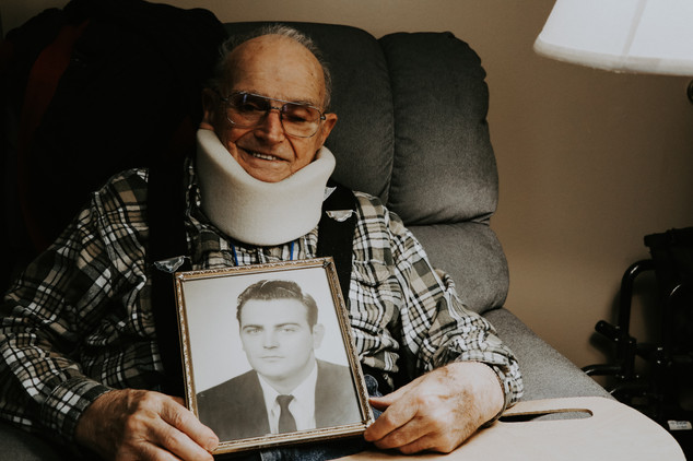 """""""The day was September 28th, 1956. I was seventeen years old. That night, I was directly hit by a fast, oncoming car while helping direct traffic during a football game. I almost didn't make it. I technically shouldn't be alive today. Broken ribs, crushed pelvis, major brain concussion, crushed knee, collapsed lung, you name it. It was a long, long recovery, but I made it out alive. I refuse to sit down and quit; a motto I still live up to this day. Never give up. Keep plugging away and you'll be just fine. You'll be just fine."""" - Mr. N"""