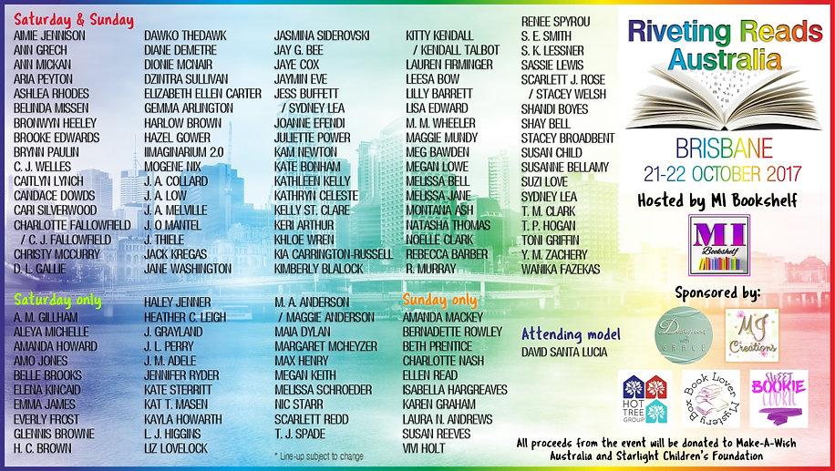 #RRA2017 Attending Authors List