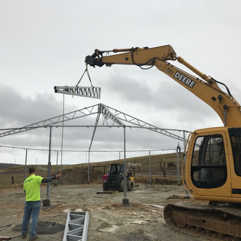 round pen building roof