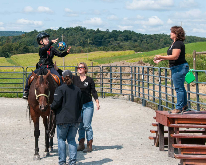 "You asked? ""What's the Difference between Hippotherapy and Therapeutic Riding?"""