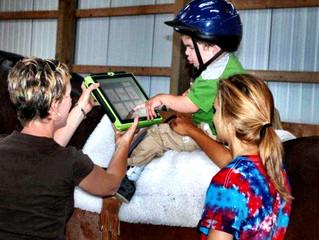 Recipe: Horse + iPad + Speech Language Pathology Interns