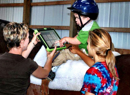 Recipe: Horse + iPad + Speech Language Pathology Interns