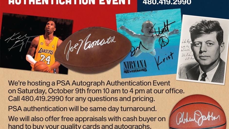 PSA Autograph authentication event - October 9th