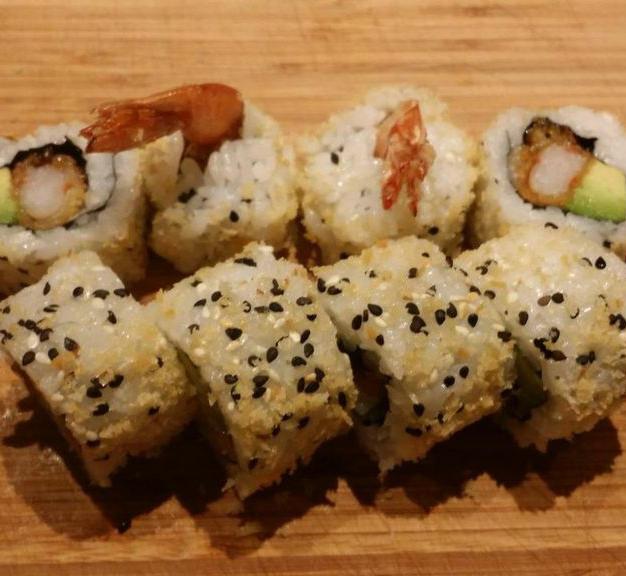 In/out tempura scampi