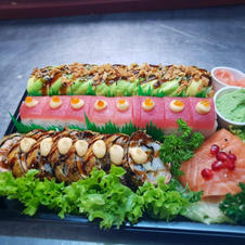 Green dragon/osaka/dragoneyes/sashimi zalm