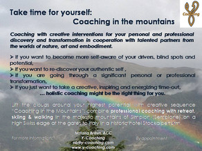 Take time for yourself: Coaching in the mountains