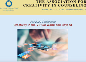 Presenting at the conference of the Association for Creativity in Counseling