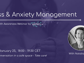 Interactive live webinar on stress and anxiety with women++