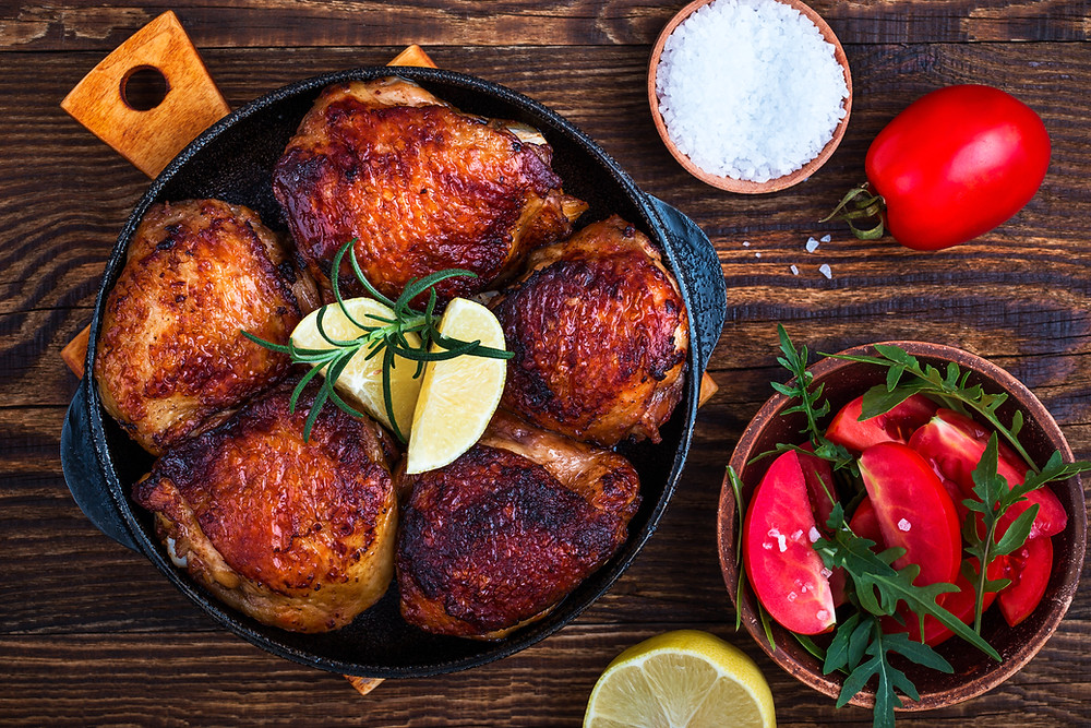 cast iron chicken thigh recipe
