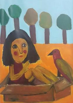 חפש ציפור צבעונית