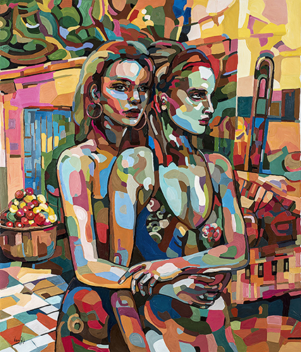 Two girls at Twilight