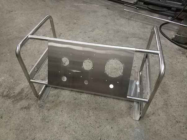 custom stainless steel skid for pressure systems