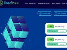 Dogebox.ltd Review : Opportunity to earn up to 6500% income