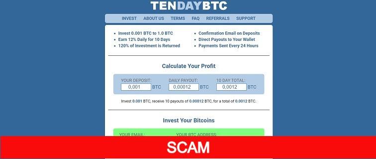 tendaybtc.com bitcoin investment site