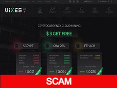 Vixes.biz Review (SCAM) : Cloud Mining Forever 3$ Register Bonus