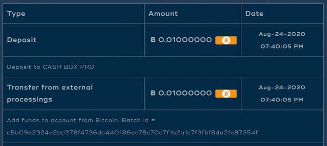 cashbox bitcoin investment site