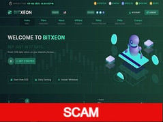 Bitxeon.io Review (SCAM) : 3.6% daily profit income for lifetime