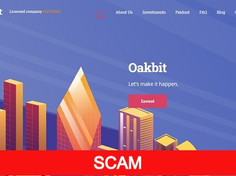 Oakbit.io Review (SCAM) : 0.06% - 5% Hourly For Lifetime Hyip Site