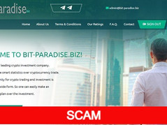 Bit-paradise.biz Review (SCAM) : New Hyip 10% - 25% daily forever