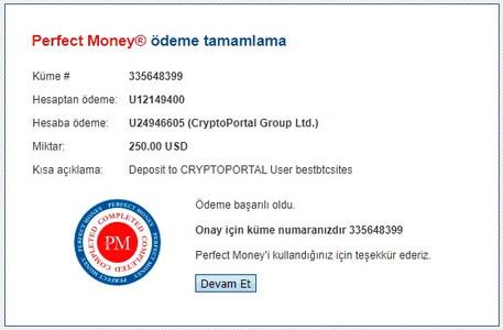 payment proof of the hyip site