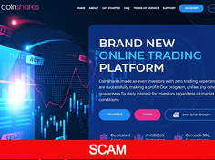 Coinshares.io Review (SCAM) : Online Investment Site 10% - 25% Daily For Lifetime