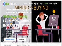 Coinminer.biz Review (SCAM) :1.03% - 299% Hourly Payment Hyip Site
