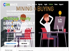 Coinminer.biz Review :1.03% - 299% Hourly Payment Hyip Site