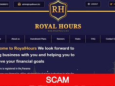 Royalhours.biz Review (SCAM) : Profit return between 110% and 130% in 6 hours to 48 hours