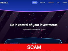 isphere.cc Review (SCAM) : 0.06% - 4% Hourly For Lifetime Hyip Site