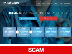 Bitmaestro.cc Review (SCAM) : 0.08% - 5% hourly forever