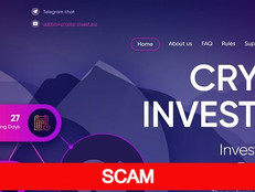 Crypto-invest.biz Review (SCAM) : 1.15% - 30% hourly profit