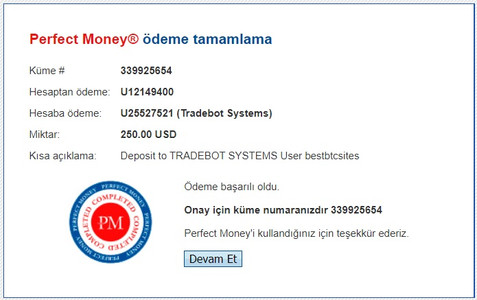 tradebot.systems payment details