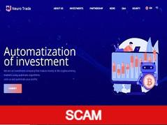 Neurotrade.io Review (SCAM) : 5% - 300% profit income