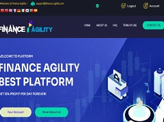 Finance-agility.com Review (SCAM) : Up To 15% Daily For Lifetime