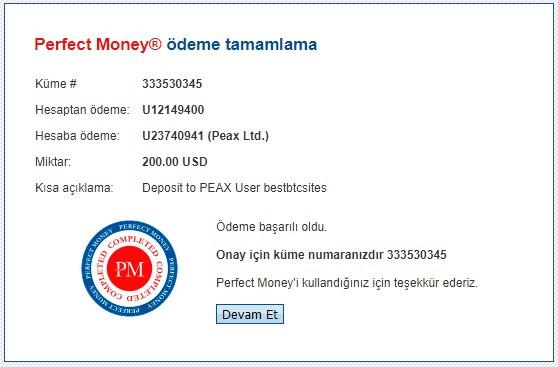 peax.io deposit details